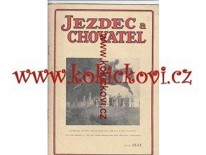 JEZDECKÝ ČASOPIS ROK 1948 DVOJČÍSLO 12-13
