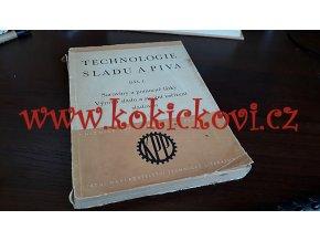 TECHNOLOGIE SLADU A PIVA DÍL 1 rok 1953