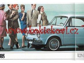 FIAT 850 BAREVNÝ PROSPEKT 16 STRAN NĚMECKY