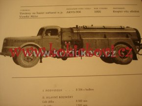 AKVS - 706 KROPICÍ VŮZ SILNIČNÍ 1955 PROSPEKT