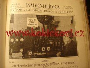 1. ROČNÍK RADIO HLÍDKA 1922 -1923 + 3. ROČNÍK PRÁCE A VYNÁLEZY