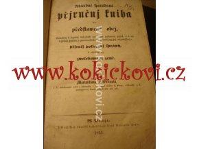 PŘÍRUČNÍ KNIHA PRO PŘEDSTAVENÉ OBCÍ RYCHTÁŘE 1853 ABSOLUTISMUS
