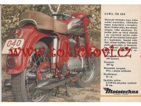 REKLAMNÍ PROSPEKT MOTOTECHNA NA MOTOCYKL - ORIGINÁL Z ROKU 1953