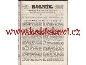 ČASOPIS ROLNÍK ROČNÍK 4 Z ROKU 1867