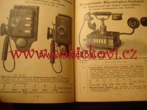 REKLAMNÍ KATALOG TELEFONY ATD JACOBI WIEN 1910