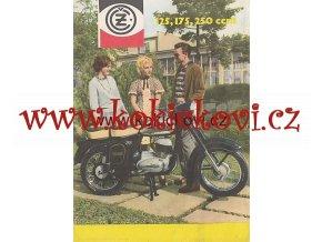 MOTOCYKLY ČZ 125 175 A 250 REKLAMNÍ PROSPEKT MOTOTECHNA