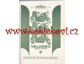 VELOREX - KATALOG NÁHRADNÍCH DÍLŮ - SIDECAR 700, 710 španělsky