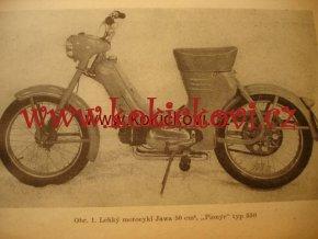 MOTOCYKL JAWA 50 PIONÝR 1959