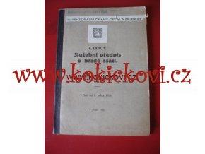 Služební předpis o brzdění ssací, č. LXIV., pl.od 1.1.1926