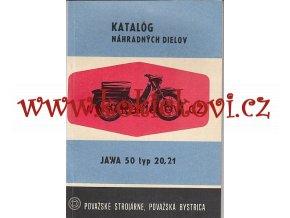 JAWA 50 TYP 20, 21 katalog náhradných dielov originál 1969