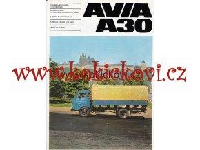 AVIA A30 REKLAMNÍ PROSPEKT 4 STRANY A4 198?