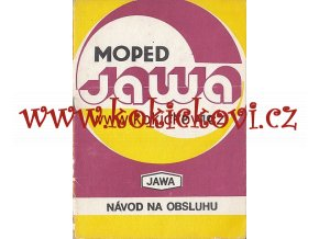 JAWA typ 210 - moped - Babetta - návod na obsluhu