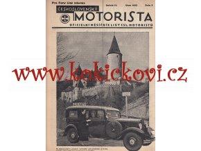 ČESKOSLOVENSKÝ MOTORISTA ROČ 1933 LIGA ČSL. MOTORISTŮ 18 ČÍSEL