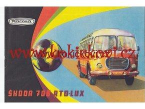 AUTOBUS ŠKODA 706 RTO - LUX PROSPEKT 1963 KAROSA