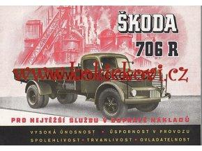 Škoda 706 R RO Mototechna 1951 prospekt Autobus