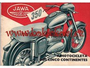 JAWA 350/354 REKLAMNÍ PROSPEKT ROK 1954 ŠPANĚLSKY