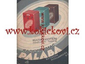 RADIO PALABA B2 REKLAMNÍ BROŽURA 22X26CM