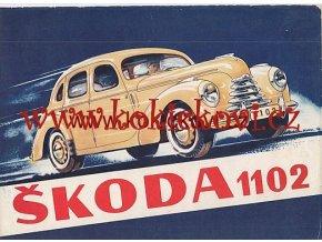 ŠKODA 1102 SEDAN ROADSTER ORIGINÁL PROSPEKT ROK 1949
