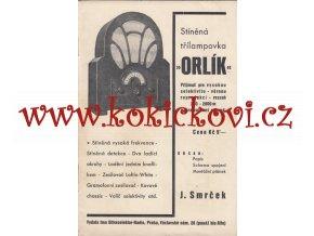 ORLÍK STÍNĚNÁ TŘÍLAMPOVKA RADIO MELEZINEK ORIGINÁL NÁVOD C.1933
