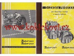 ZETOR 3011 A ZETOR 2011 ORIG. DÍLENSKÁ PŘÍRUČKA 1961