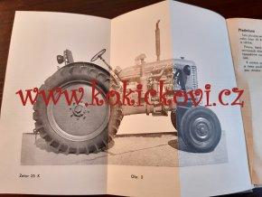 Návod k obsluze traktorů ZETOR 25 A a ZETOR 25 K Diesel