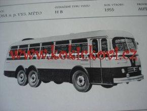 AUTOBUS KAROSA TYP HB PROSPEKT ROK 1955