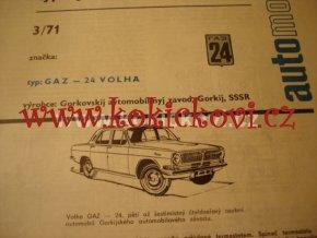 GAZ 24 VOLHA TYPOVÝ LIST