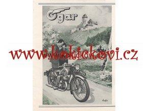 MOTOCYKL OGAR 1934/1395 REKLAMNÍ PROSPEKT A5 OBOUSTRANNÝ TISK