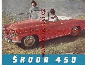 ŠKODA 450 ORIGINÁLNÍ PROSPEKT ROK 1957 A5 ROZKLÁDACÍ A5