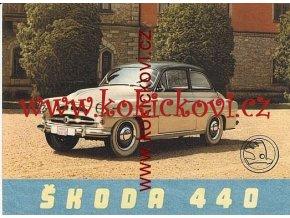 ŠKODA 440 ORIGINÁLNÍ PROSPEKT ROK 1957 A5 ROZKLÁDACÍ A5