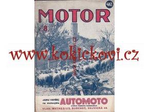 ČASOPIS MOTOR Č.8 /1930 ROČNÍK 9 NEKOMPLETNÍ 1 ČÍSLO