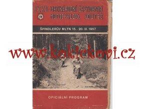 XXXII. MEZINÁRODNÍ ŠESTIDENNÍ MOTOCYKLOVÁ SOUTĚŽ - 1957 ŠPINDLERŮV MLÝN