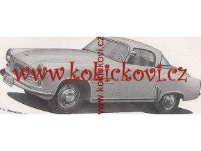 Wartburg 311 kabriolet  pickup - příručka obsluha údržba 1959