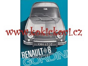 RENAULT 8 GORDINI PROSPEKT A4
