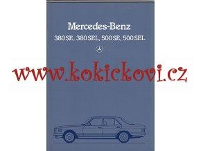 Mercedes Benz 380SE 380SEL 500SE 500SEL REKLAMNÍ PROSPEKT FORMÁT A4 BROŽURA