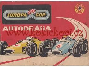 AUTODRÁHA EUROPA CUP 1969 ORIGINÁLNÍ NÁVOD K OBSLUZE KOH-I-NOOR HARDTMUTH