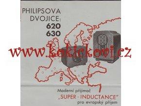 PHILIPSOVA DVOJICE RADIO PHILIPS 620 630 SUPER INDUCTANCE PROSPEKT
