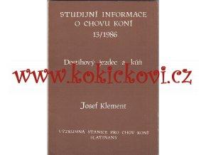 DOSTIHOVÝ JEZDEC A KŮŇ - JOSEF KLEMENT 1986 SLATIŇANY