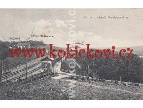 SENOHRABY NÁDRAŽÍ KRÁSNÁ PARTIE 1910 CESTA OD HRUŠOVA
