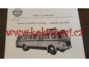 AUTOBUS LIAZ ŠKODA 706 RTO LINKOVÝ KATALOGOVÝ LIST A4