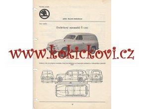 DODÁVKOVÝ AUTOMOBIL ŠKODA 1201 - KATALOGOVÝ LIST A4