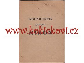 AERO MINOR INSTRUCTION BOOK NÁVOD K OBLUZE ANGLICKY 1947