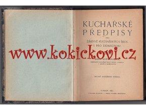 Kofránková - Kuchařské předpisy pro žákyně kuchařských škol 1921 - 360 stran