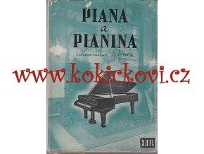 PIANA A PIANINA - VÝROBA TÓNOVÁNÍ INTONACESNTL 1958