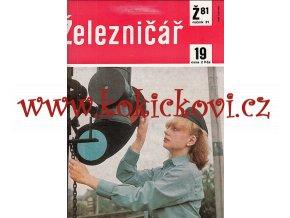 ČASOPIS ŽELEZNIČÁŘ 1981 KOMPLETNÍ 24 ČÍSEL