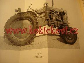 Zetor 25 A 25 K diesel - návod k obsluze traktorů - 1961 - ŠPANĚLSKY - MOTOKOV