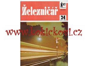 ČASOPIS ŽELEZNIČÁŘ 1987 KOMPLETNÍ 24 ČÍSEL