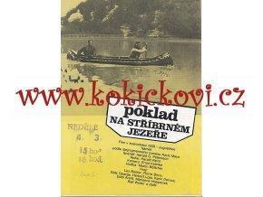 Filmový plakát Poklad na Stříbrném jezeře A4 program Pierre Brice Lex Barker
