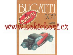 Bugatti 50 T - plastikový vystřihovací model - kresby Michal Antonický Pressfoto