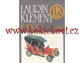Laurin a Klement E 1907 - plastikový vystřihovací model - kresby Michal Antonický Pressfoto